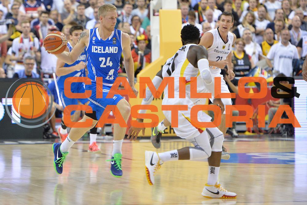 DESCRIZIONE : Berlino Berlin Eurobasket 2015 Group B Iceland Germany <br /> GIOCATORE :  Haukur Palsson<br /> CATEGORIA : Contropiede<br /> SQUADRA : Iceland<br /> EVENTO : Eurobasket 2015 Group B <br /> GARA : Iceland Germany <br /> DATA : 06/09/2015 <br /> SPORT : Pallacanestro <br /> AUTORE : Agenzia Ciamillo-Castoria/I.Mancini <br /> Galleria : Eurobasket 2015 <br /> Fotonotizia : Berlino Berlin Eurobasket 2015 Group B Iceland Germany