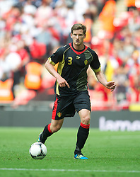 LONDON, ENGLAND - Saturday, June 2, 2012: Belgium's Jan Vertonghen in action against England during the International Friendly match at Wembley. (Pic by David Rawcliffe/Propaganda)