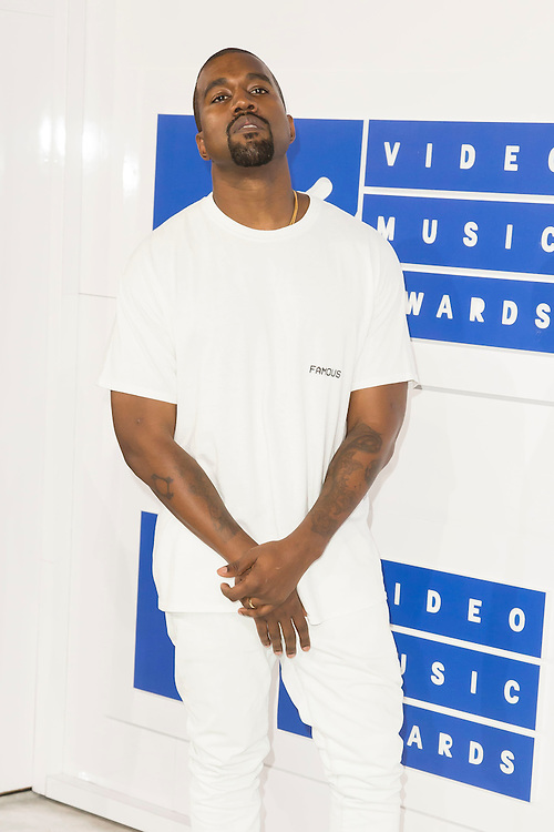 Kanye West arrives at the 2016 MTV Video Music Awards at Madison Square Gardens on August 28, 2016 in New York City