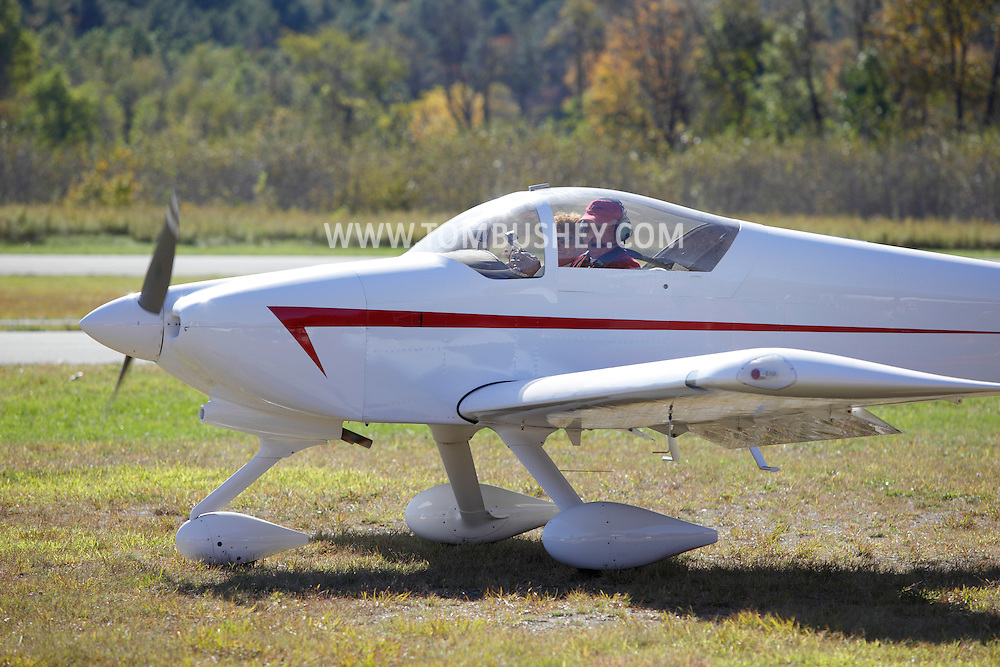 Wurtsboro, New York - A pilot taxis his plane before taking off from Wurtsboro Airport on Oct. 9, 2010.