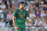 Ish Sodhi during the NatWest T20 Blast Quarter Final match between Notts Outlaws and Somerset County Cricket Club at Trent Bridge, West Bridgford, United Kingdom on 24 August 2017. Photo by Simon Trafford.