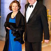 NLD/Amsterdam/20130429- Afscheidsdiner Konining Beatrix Rijksmuseum, minister Ivo opstelten en partner