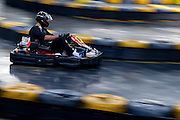 Jerzy Janowicz of Poland while GoKarts Racing on F1 Karting Track four days before the BNP Paribas Davis Cup 2014 between Poland and Croatia in Warsaw on March 31, 2014.<br /> <br /> Poland, Warsaw, March 31, 2014<br /> <br /> Picture also available in RAW (NEF) or TIFF format on special request.<br /> <br /> For editorial use only. Any commercial or promotional use requires permission.<br /> <br /> Mandatory credit:<br /> Photo by &copy; Adam Nurkiewicz / Mediasport