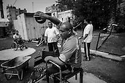 Nabil Hamdya, 45 years old sicobolus and shot putter, one of the first memevbers and founder of the Al Jazeera paralympics team, he trains since 20 years and he already won many international competitions.. During 1987 he was shot in the back fighting the first Intifada, now he cant move his legs anymore