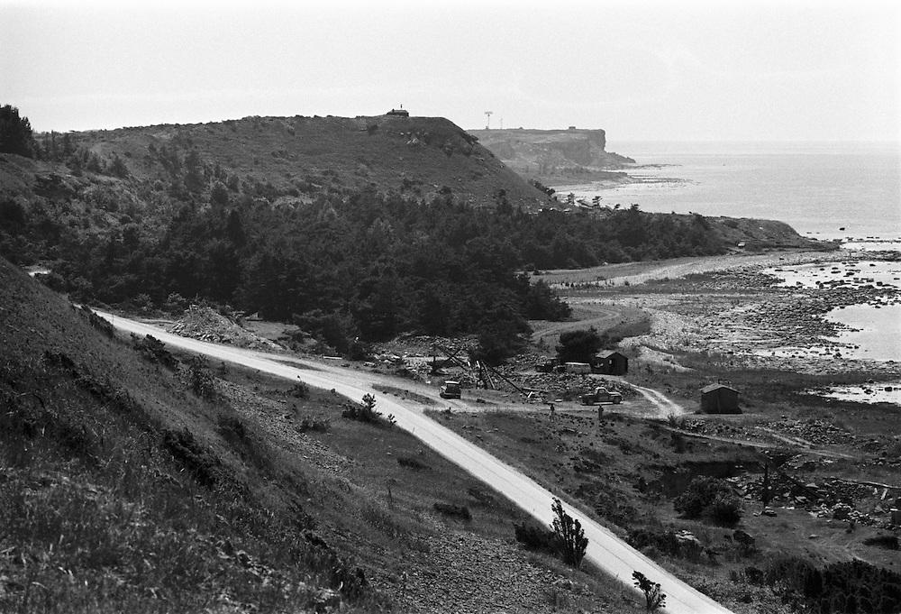 Kustvägen mot Hoburgen på södra Gotland.