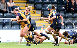 Sarah Bern of Bristol Ladies powers through a tackle - Mandatory by-line: Robbie Stephenson/JMP - 24/09/2016 - RUGBY - Sixways - Worcester, England - Worcester Valkyries v Bristol Ladies Rugby - RFU Women's Premiership