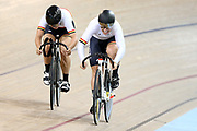 Christie Tahlay and Tess Young WE Sprint during the 2019 Vantage Elite and U19 Track Cycling National Championships at the Avantidrome in Cambridge, New Zealand on Friday, 08 February 2019. ( Mandatory Photo Credit: Dianne Manson )