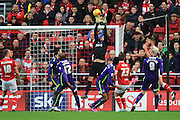 Charlton Athletic goalkeeper Stephen Henderson makes a save during the Sky Bet Championship match between Bristol City and Charlton Athletic at Ashton Gate, Bristol, England on 26 December 2015. Photo by Jemma Phillips.