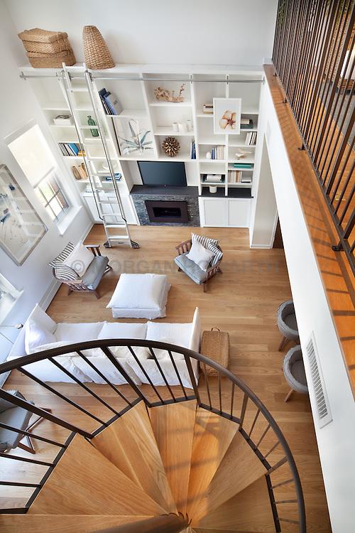 1700_Clarendon Arlington, VA The Gaslight 1700_Clarendon Arlington, VA Home Living Room Stair stairway
