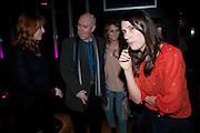 ELIZABETH BERRINGTON; ; ALAN AYCKBOURN; KARA TOINTON;, Absent Friends - press night  afterparty. Mint Leaf. Haymarket. London. Thursday 9 February 2012