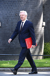 © Licensed to London News Pictures. 13/06/2017. London, UK. David Davis arrives at Downing Street for the second cabinet meeting in two days ahead of todays visit by DUP leader Arlene Foster. Photo credit: Andrew McCaren/LNP