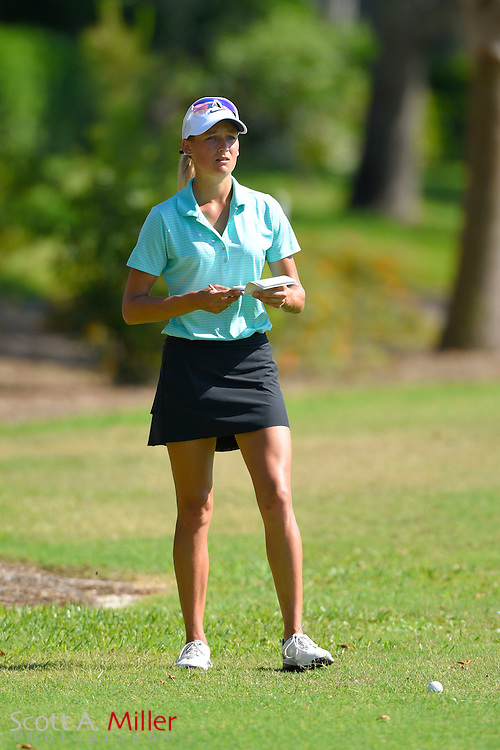 Brogan McKinnon during the final round of the Chico's Patty Berg Memorial on April 19, 2015 in Fort Myers, Florida. The tournament feature golfers from both the Symetra and Legends Tours.<br /> <br /> &copy;2015 Scott A. Miller