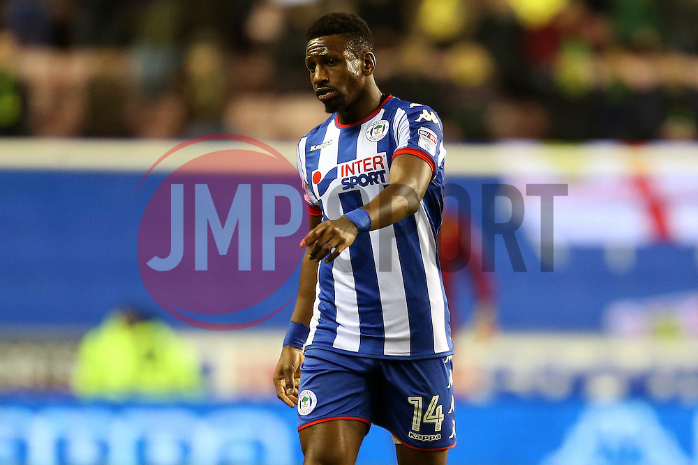 Omar Bogle of Wigan Athletic - Mandatory by-line: Matt McNulty/JMP - 07/02/2017 - FOOTBALL - DW Stadium - Wigan, England - Wigan Athletic v Norwich City - Sky Bet Championship