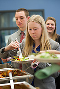 Cutler Scholars, their parents, and Ohio University faculty enjoy catered lunch during the Cutler Scholar Luncheon.