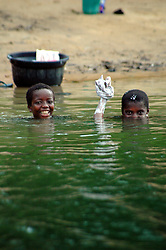 Ghana, Adaklu, Titikope, 2007. The Volta River is central in every way to the health and happiness of the nearby villages.