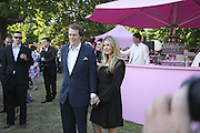 Tom Parker Bowles and Sara Buys, The Summer Party sponsored by Yves St. Laurent. Serpentine Gallery. 11 July 2006. . ONE TIME USE ONLY - DO NOT ARCHIVE  © Copyright Photograph by Dafydd Jones 66 Stockwell Park Rd. London SW9 0DA Tel 020 7733 0108 www.dafjones.com