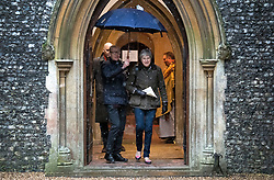 © Licensed to London News Pictures. 21/01/2018. Sonning, UK. British prime minister THERESA MAY attends a morning church service with her husband PHILIP MAY, near her constituency home. Photo credit: Ben Cawthra/LNP