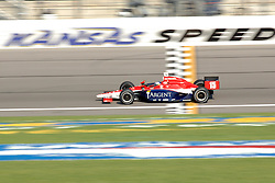July 1, 2006; Kansas City, KS, USA:  Panning shot of driver (15) Buddy Rice of Rahal Letterman Racing Team Argent during his practice laps in the Kansas Lottery Indy 300 at Kansas Speedway in Kansas City, KS.  Mandatory Credit: Denny Medley-US PRESSWIRE Copyright (c) Denny Medley