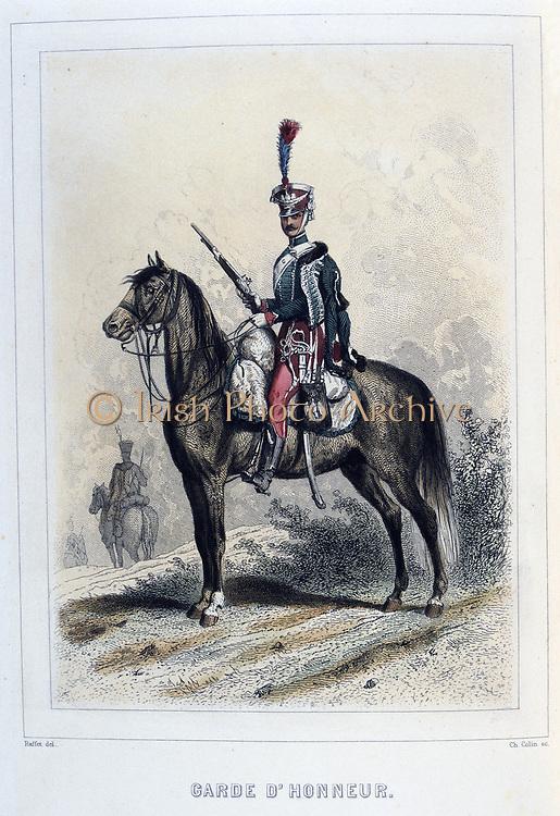 Guiard of Honour. From 'Napoleon 1er et la Garde Imperiale' by Eugene Fieffe, Paris, 1858.
