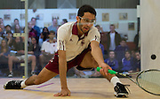 Ahmed Abdel Khalek '16 competes during a match against Amherst College on January 15, 2013.