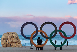 05.02.2018, Pyeongchang, KOR, PyeongChang 2018, Vorberichte, im Bild Olympische Ringe // Olympic Rings during a preliminary reports ahead of the opening of the Pyeongchang 2018 Winter Olympic Games in Gangneung , South Korea on 2018/02/05. EXPA Pictures © 2018, PhotoCredit: EXPA/ Johann Groder