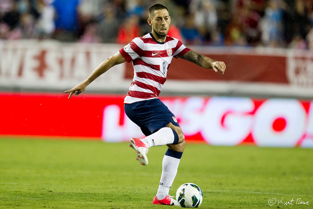 USA Men's National Team forward CLINT DEMPSEY (8) during the Antigua & Barbuda vs USA Men's National Team  semifinal round of 2014 FIFA World Cup qualifier at Raymond James Stadium in Tampa, Fl. .