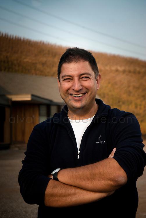 Max Weinlaub, enologo de la viña Concha y toro. BUIN, CHILE 09-05-2012 Alvaro de la Fuente/TRIPLE.cl.