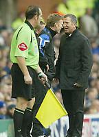Photo: Aidan Ellis.<br /> Everton v Newcastle. The Barclays Premiership.<br /> 27/11/2005.<br /> Graeme Souness jokes with David Moyes