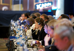 Members of the Government Advisory Committee of ICANN, the Internet Corporation for Assigned Names and Numbers, discuss the proposed adoption of a new .XXX top-level domain during the ICANN 40 meetings in San Francisco.   Representatives from the adult industry protested that the change will cost website operators millions in unnecessary fees and make porn sites easier to block by governments.