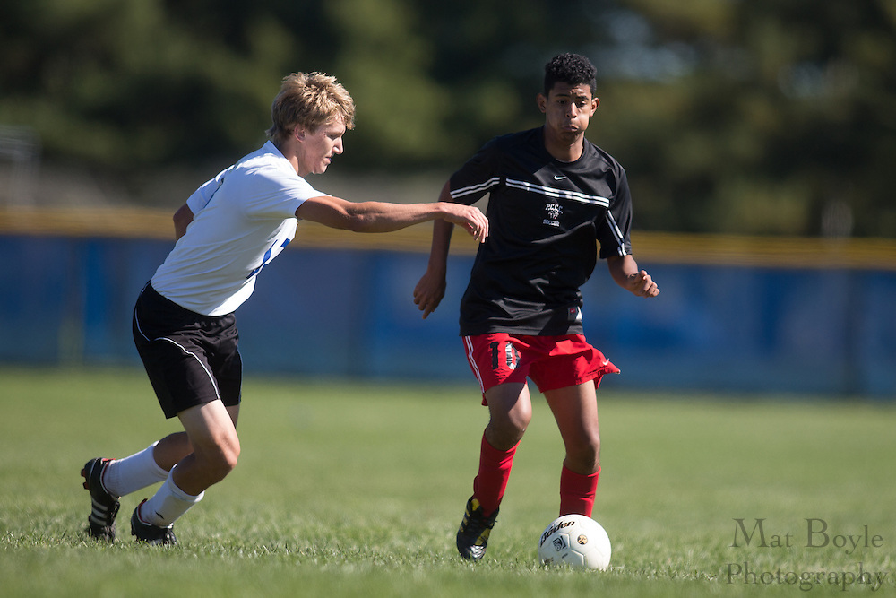 Gloucester County College Men's Soccer hosts Passaic County Community College in Sewell, NJ on Saturday October 13, 2012. (photo / Mat Boyle)