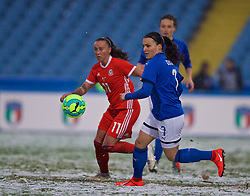 CESENA, ITALY - Tuesday, January 22, 2019: Italy's Alia Guagni during the International Friendly between Italy and Wales at the Stadio Dino Manuzzi. (Pic by David Rawcliffe/Propaganda)