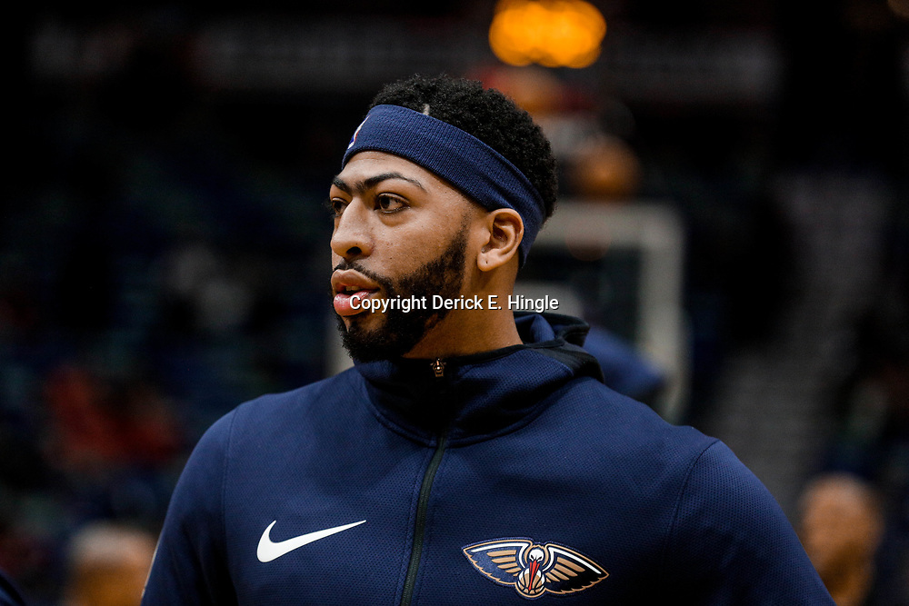 Nov 29, 2017; New Orleans, LA, USA; New Orleans Pelicans forward Anthony Davis (23) before a game against the Minnesota Timberwolves at the Smoothie King Center. Mandatory Credit: Derick E. Hingle-USA TODAY Sports
