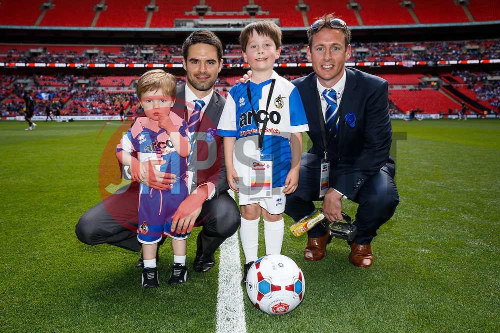 Bristol Rovers mascots on the Wembley Turf before the match - Photo mandatory by-line: Rogan Thomson/JMP - 07966 386802 - 17/05/2015 - SPORT - FOOTBALL - London, England - Wembley Stadium - Bristol Rovers v Frimsby Town - Vanarama Conference Premier Play-off Final.
