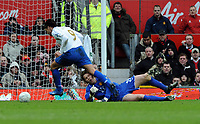 Tomasz Kuszczak brings down Portsmouth's Milan Baros for Penalty<br /> Manchester United 2007/08<br /> Manchester United V Portsmouth (0-1) 08/03/08<br /> The FA Cup 6th Round<br /> Photo Robin Parker Fotosports International