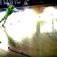 Nededrland, Enschede, 01-11-2015.<br /> Schaatsen, 1000 meter Vrouwen, KNSB Cup.<br /> Jorien Ter Mors op de 1000 meter die zij glansrijk wint.<br /> Foto: Klaas Jan van der Weij