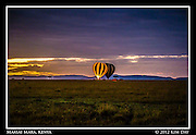 Balloons Ready For Take Off At Dawn.Maasai Mara, Kenya.September 2012