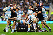 London - Saturday, November 14th 2009: Alfredo Lalanne of Argentina clears the ball during the Investec Challenge Series Game at Twickenham, London. ..(Pic by Alex Broadway/Focus Images)
