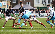 James Hallam in action during the Green King IPA Championship Play-Off match between London Scottish &amp; Worcester at Richmond, Greater London on Saturday 2nd May 2015<br /> <br /> Photo: Ken Sparks | UK Sports Pics Ltd<br /> London Scottish v Worcester, Green King IPA Championship, 2nd May 2015<br /> <br /> &copy; UK Sports Pics Ltd. FA Accredited. Football League Licence No:  FL14/15/P5700.Football Conference Licence No: PCONF 051/14 Tel +44(0)7968 045353. email ken@uksportspics.co.uk, 7 Leslie Park Road, East Croydon, Surrey CR0 6TN. Credit UK Sports Pics Ltd