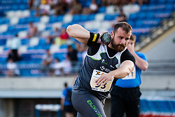 Tadej Hribar competes in Shot put during day one of the 2020 Slovenian Cup in ZAK Stadium on July 4, 2020 in Ljubljana, Slovenia. Photo by Grega Valancic / Sportida