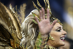 """A dancer of """"Mancha Verde"""" takes part in the first night of the parade of samba schools of the Carnival, in the Anhembi Sambadrome, in Sao Paulo, Brazil, on Feb. 13, 2015. EXPA Pictures © 2015, PhotoCredit: EXPA/ Photoshot/ [e]Rahel Patrasso<br /> <br /> *****ATTENTION - for AUT, SLO, CRO, SRB, BIH, MAZ only*****"""