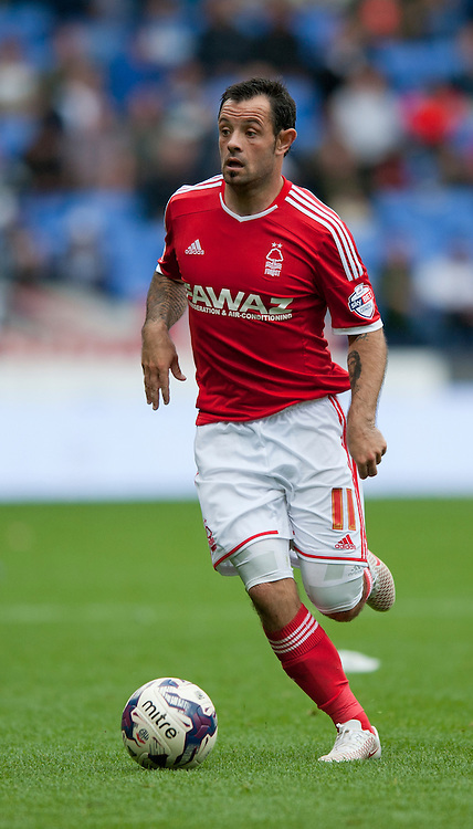 Andy Reid of Nottingham Forest during the Sky Bet Championship match at the Macron Stadium, Bolton<br /> Picture by Russell Hart/Focus Images Ltd 07791 688 420<br /> 16/08/2014