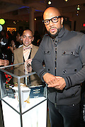 l to r: Derek Dudley and Common at the Common Celebration Capsule Line Launch with Softwear by Microsoft at Skylight Studios on December 3, 2008 in New York City..Microsoft celebrates the launch of a limited-edition capsule collection of SOFTWEAR by Microsoft graphic tees designed by Common. The t-shirt  designs. inspired by the 1980's when both Microsoft and and Hip Hop really came of age, include iconography that depicts shared principles of the technology company and the Hip Hop Star.