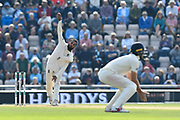 Adil Rashid of England bowling during day two of the fourth SpecSavers International Test Match 2018 match between England and India at the Ageas Bowl, Southampton, United Kingdom on 31 August 2018.