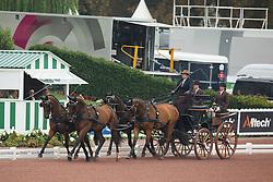 Sebastien Vincent, (FRA), Alibaba, Alioth S, Diablo, Klon, Quinn - Driving dressage day 2 - Alltech FEI World Equestrian Games™ 2014 - Normandy, France.<br /> © Hippo Foto Team - Dirk Caremans<br /> 05/09/14