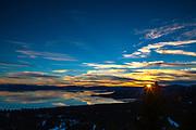 Glassy Sunset on Lake Tahoe.