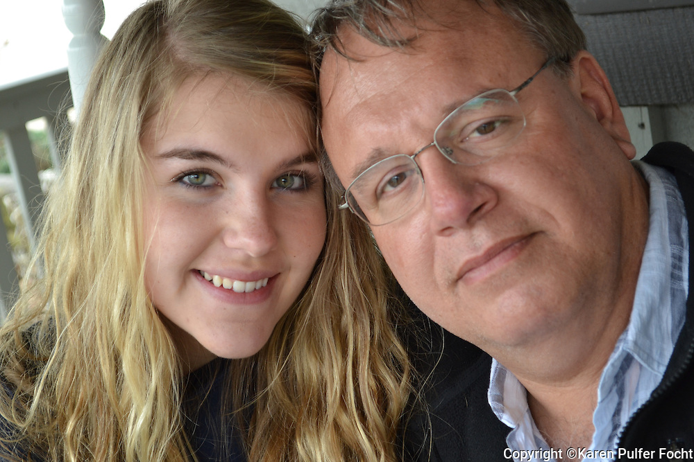A father and daughter portrait.