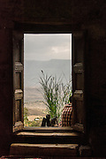 Looking out from inside the St. Neakutoleab Monastery, Lalibela, Ethiopia.
