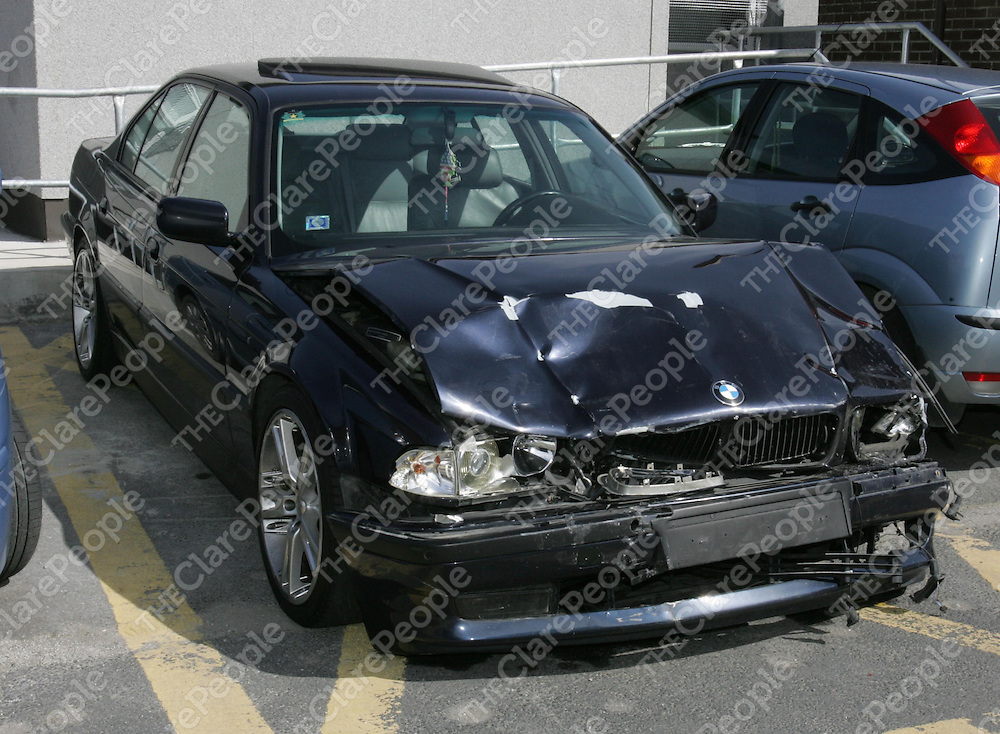 9/9/2006<br />The Latvian registered 7 series BMW driven by a Latvian national involved in a fatal crash at the junction of Fairgreen road and Ballysimon road at Upper Mulgrave street, Limerick where Emma Woodland died in the early hours of Saturday morning.<br /><br />Picture: Liam Burke/Press 22