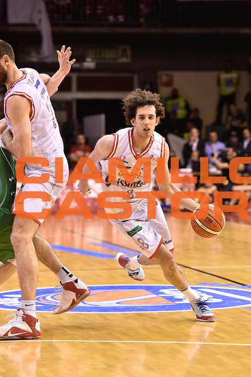 Reggio Emilia 20.05.2016<br /> Basket Serie A - Playoff Semifinali Gara 2<br /> Grissini Bon Reggio Emilia - Sidigas Avellino<br /> <br /> Nella foto: Amedeo Della Valle