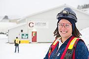 Female mining worker in Yukon, Canada.